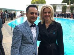 Dhalla with Sara Kate Ellison, CEO of GLAAD
